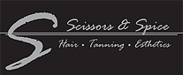 Scissors & Spice Salon logo